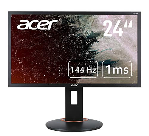 Acer XF0 Series (XF240QS) 60 cm (23.6 Inch) TN Monitor (2x HDMI (2.0), 1x DP (1.2), Full HD 1920 x 1080, 1ms (G2G), 144Hz (165Hz Oc), 300 Nits, Height Adjustable, Pivot, DP/HDMI FreeSync)