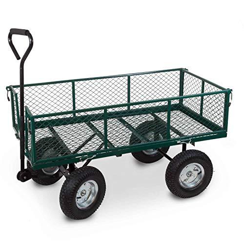 Julido Bollerwagen Transportwagen Handwagen Gartenwagen Gartenkarre Handkarren Plattformwagen Maxi bis 500kg Tragkraft klappbare Seitenwände