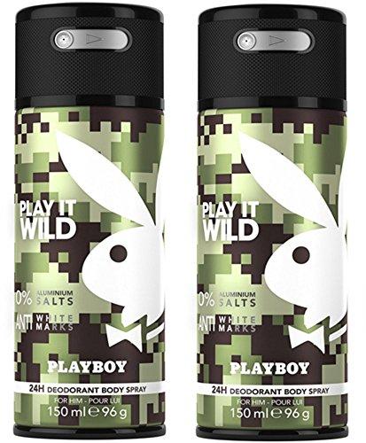 Playboy Wild Deodorante Uomo - 2 Confezioni da 150 ml
