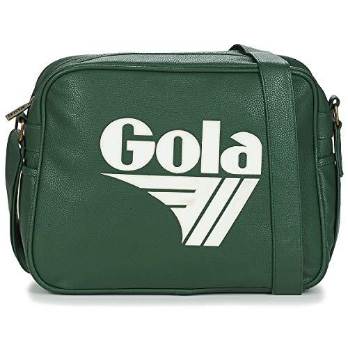 Gola Redford Retro Messenger Bag, Bottle Green