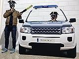 Photocall Boda Coche Guardia Civil   Policia   Eventos Celebraciones   Medidas 155x150cm   Ventana Troquelada   Photocall Divertido