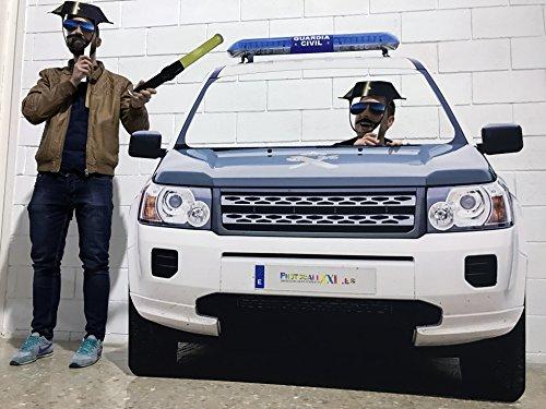 Photocall Boda Coche Guardia Civil | Policia | Eventos Celebraciones | Medidas 155x150cm | Ventana Troquelada | Photocall Divertido