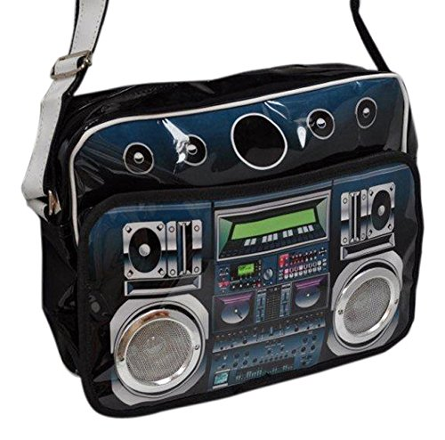 Boombox Bag with Real Speakers. Plug in your phone or any MP3, MP4 player
