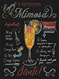 Mimosa Cocktail Retro Metal Sign Vintage/Man Cave/Bar/Pub