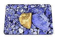 22cmx18cm マウスパッド (石ビーチグレーイエロー) パターンカスタムの マウスパッド