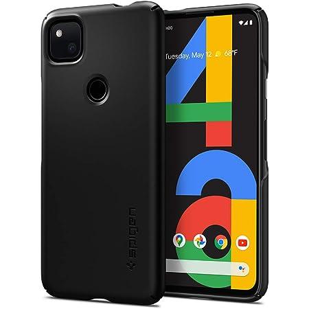Spigen Google Pixel 4a ケース 対応 超極薄 レンズ保護 超薄型 超軽量 指紋防止 マット仕上げ シン・フィット ACS01014 (ブラック)