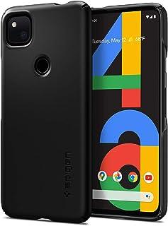 Spigen Thin Fit Compatibel met Google Pixel 4a hoesje, slanke pc-hoes, harde hoes, lichte dunne beschermhoes, mobiele tele...