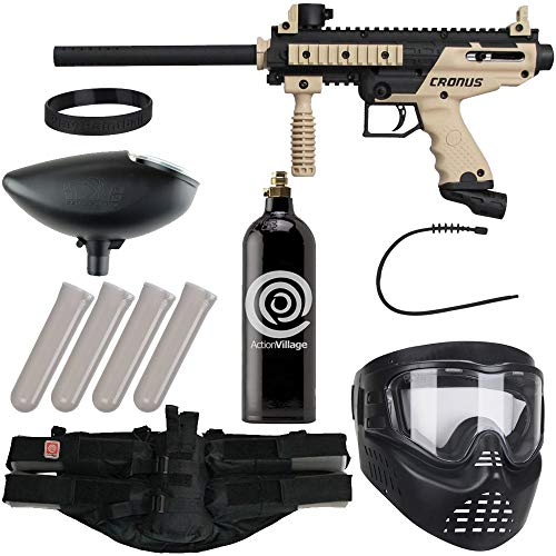 Action Village Tippmann Cronus Epic Paintball Gun Package Kit - Tactical & Basic (Basic Black)
