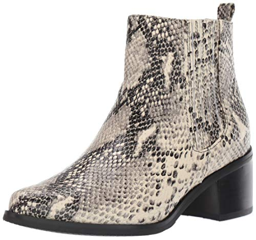 Blondo Women's Elvina Waterproof Ankle Boot, Natural Snake, 8.5 M US