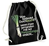 Siviwonder Turnbeutel - Lauch DURCHLAUCHT Porree - FUN Baumwoll Tasche lustiger Spruch schwarz