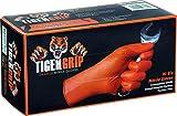 KUNZER TIGER GRIP XL - chemieresistente Nitril-Einweghandschuhe orange -'TIGER GRIP' Größe XL - 90...