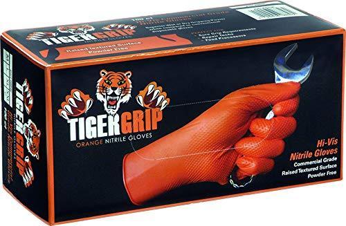 KUNZER TIGER GRIP XXL - chemieresistente Nitril-Einweghandschuhe orange -'TIGER GRIP' Größe XXL - 90 Stück