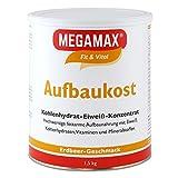 MEGAMAX Aufbaukost Erdbeere 1.5 kg- Ideal zur Kräftigung und bei Untergewicht. Proteinpulver zur...