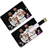 Unidades flash USB para pulgar Anthony Los Angeles Jugador de baloncesto 3 Forma de tarjeta de crédito The Brow Davis Lakers Super Star Freethrow Lane Porcentaje de disparo de tres puntos Porcentaje d