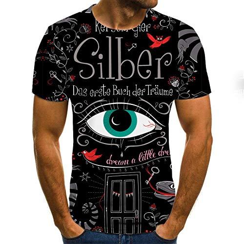 Abstract Unisex T Shirt Zomer 3D Gedrukt Korte Mouw Oog Slank Korte Casual Mouw Topjes O-hals Pullover Blouse Tee