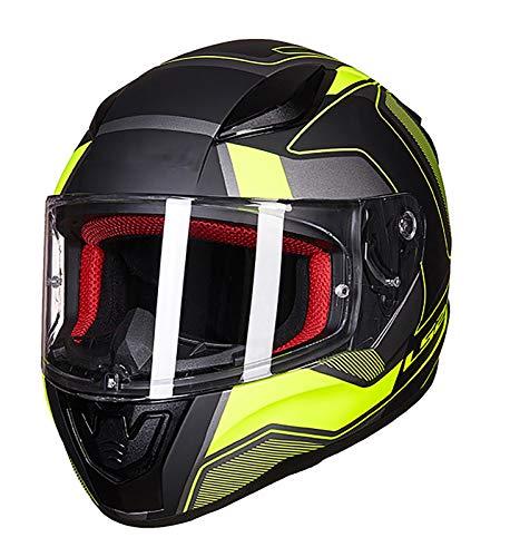 SMINNG Casco de Motocicleta Certificación Dot/ECE-Casco de Motocicleta anticolisión de Cara Completa Casco abatible Modular, Adecuado para Adultos en Todas Las Estaciones B,L(59~60cm)