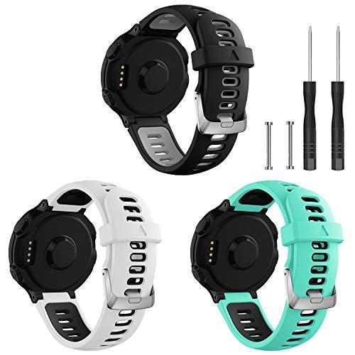 Junboer Compatible with Garmin Forerunner 735XT Watch Band, Soft Silicone Rplacement Watch Strap Men Women Sport Band Wristband for Forerunner 735XT/230/220/235/620/630 Smartwatches