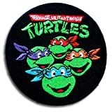 Verani Teenage Mutant Ninja Turtles Movie Cartoon Superhero Band Logo Patch Emblem Jacket T-Shirt Sew Iron on Patch Badge Embroidery Round