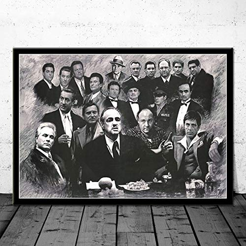 AL PACINO SCARFACE Gangster filmposter Canvas schilderij muur foto voor Home Decor posters en prints 40x50cm Frameloos