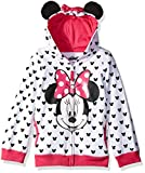 Disney Toddler Girls' Minnie Hoodie with Bow and Ear, White, 2T