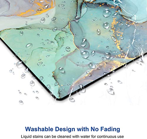 """Mouse Pad, Modern Teal Marble Mouse Pad,Turquoise Marbling Mouse Pad, Gaming Mouse Mat, Square Waterproof Mouse Pad Non-Slip Rubber Base MousePads for Office Home Laptop Travel, 9.5""""x7.9""""x0.12"""" Inch Photo #6"""