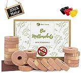 viiteo®-Home Premium 48er Set Mottenschutz aus 100% natürlichem Zedernholz Mottenringe