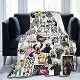 CAPTIVATE HEART Tokyo Ghoul Ultra-Soft Micro Fleece Blanket 50'X40' Flannel Super Soft Blanket Lightweight Throw Blanket Air Conditioning Blanket.