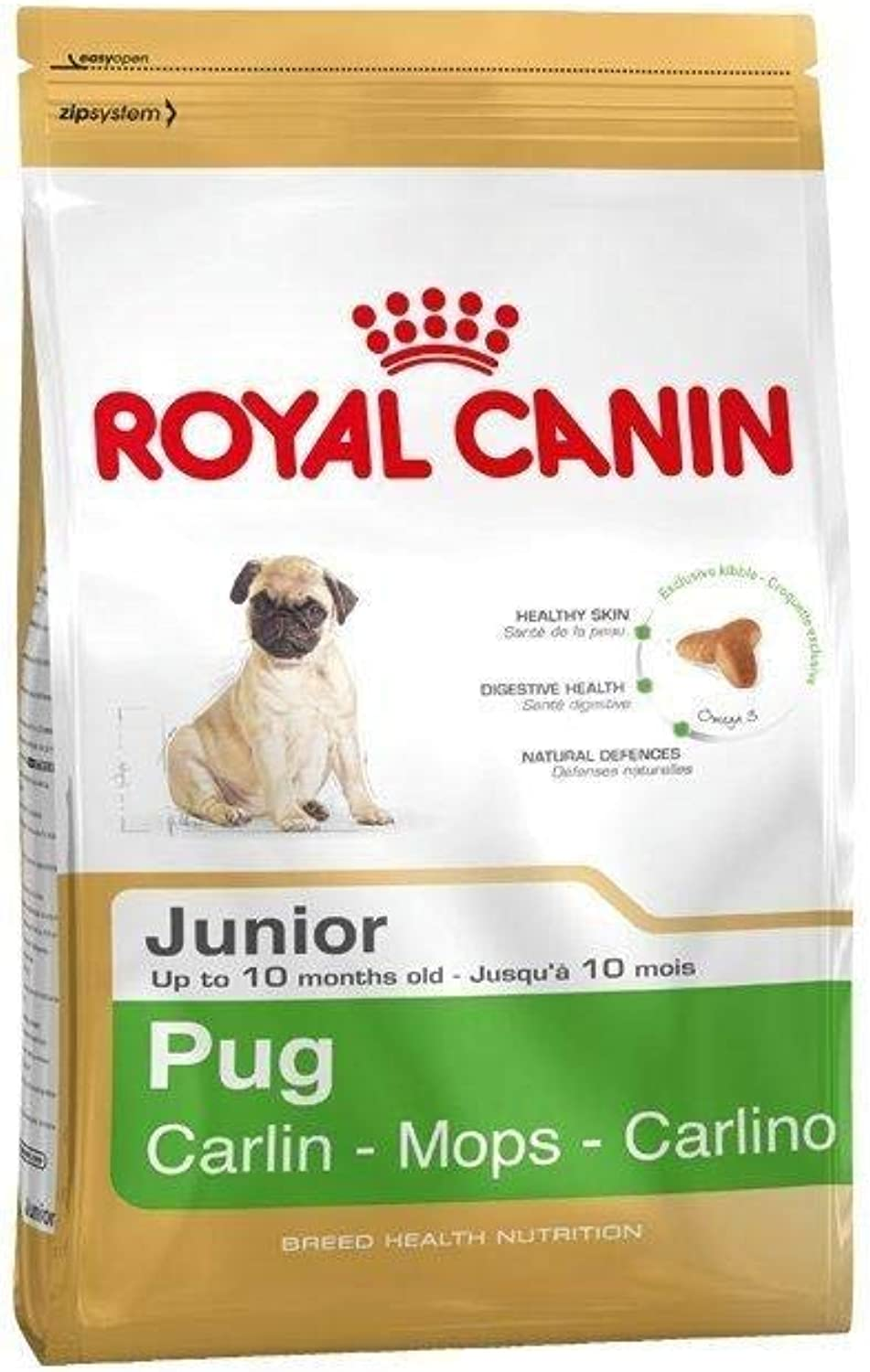 1.5KG Royal Canin Pug Junior Complete Dog Food by Royal Canin