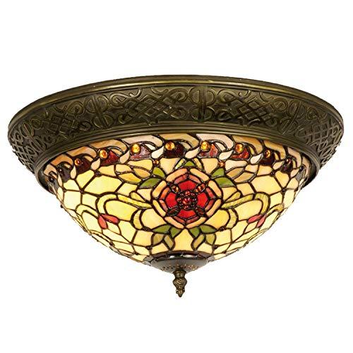 Lumilamp 5LL-5356 - Lámpara de techo (cristal, 38 x 19 cm), diseño de rosa roja