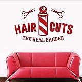 Wandaufkleber Salon Aufkleber Gentleman Aufkleber Haar Friseur Poster Vinyl Wandkunst Aufkleber Haarschnitt 40X65Cm