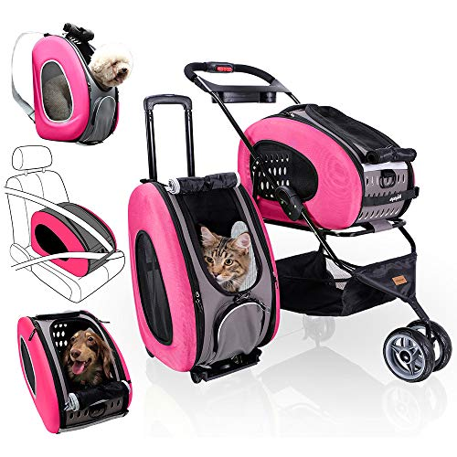 Our #5 Pick is the Ibiyaya 5 in 1 Pet Stroller
