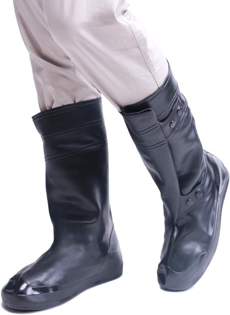 VXAR Galoshes Overshoe Rain Shoe Cover Black4 L