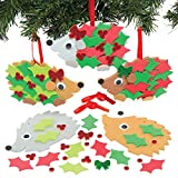 Baker Ross Kits de decoración de espuma de erizo de acebo de Navidad: suministros creativ...