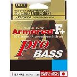 DUEL(デュエル) ライン: ARMORED F+ Pro BASS 100m1.0号 : シルバー×高視認オレンジマーキング