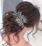 Unicra Diadema de cristal para novia de boda, de color plateado con diamantes de imitación para mujeres y niñas