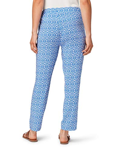TOM TAILOR für Frauen Hosen & Chino Gemusterte Hose in Ankle-Länge Blue White Geometric Design, 44