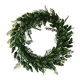 LQDRD - Corona de flores artificiales para puerta (materiales naturales y flores textiles,...