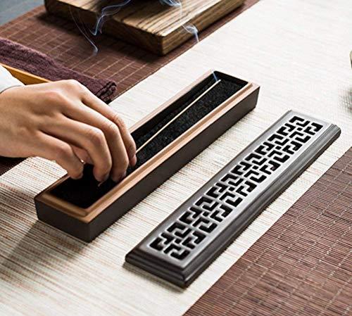 Mayco Bell Reisebox Räucherstäbchen - Halter und Aufbewahrung in einem - Holz mit Messingintarsien