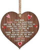 Manta Makes I love you mum wooden hanging heart