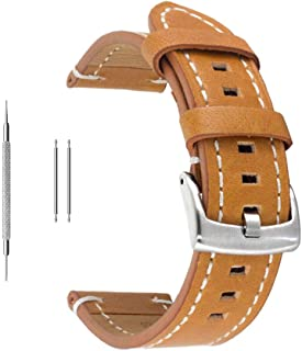 Berfine Extra Soft Genuine Leather Watch Band Replacement for Men Women