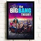 Carteles Impresiones Pintura De Pared The Big Bang Theory TV Película Pared Arte Lienzo Pintura Cuadros Decoración del Hogar Mural Cartel Sin Marco A1030 40X60Cm
