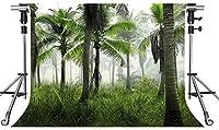 HD自然の風景の背景熱帯雨林の写真の背景10X7ftをテーマにしたパーティーの写真ブースYouTubeの背景LFMT096
