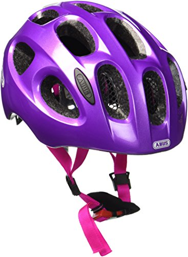 ABUS Unisex-Erwachsene Youn-I Fahrradhelm, Sparkling Purple, S