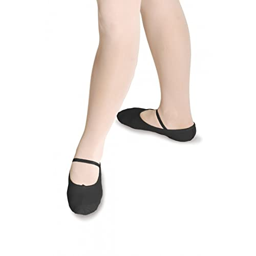 052dbb14a7a8 Roch Valley WIDE FIT BLACK LEATHER BALLET SHOES Full Sole Child and Adult  Sizes