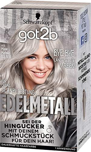 Schwarzkopf got2b Edelmetall Moon Metallic Silber M70, 1er Pack (1 x 143 ml)