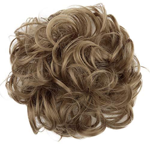 PRETTYSHOP Haarteil Haargummi Hochsteckfrisuren Brautfrisuren Voluminös Gelockt Unordentlich Dutt Dunkelblond G9A