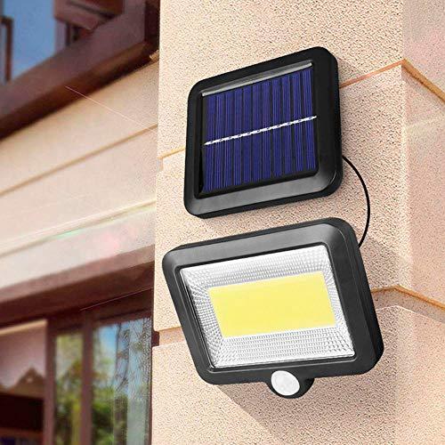 100 LED Faro Led con Pannello 2 Parte Sensore di Movimento Intelligente IP65 Impermeabile 80m Distanza da Luminosita  per Esterno
