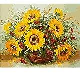 BHDSV Paint by Number kitsTheme Digital Oil Set Dos Gatos Niños Principiantes Kindergen Deco-No Frame-40x50cm