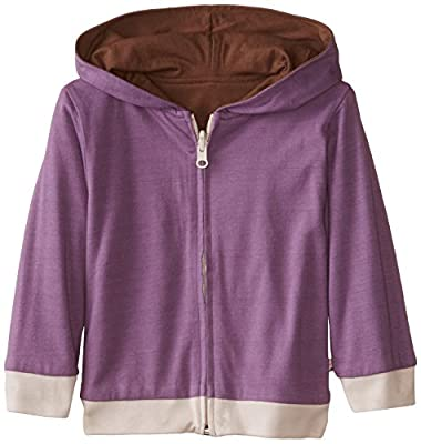 Baby Soy All-Natural Year-Round Reversible Hoodie Eggplant/Chocolate, size 0-6 months
