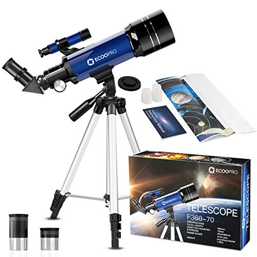 Awolf Astronomy Telescope for Beginners Great Astronomy Gift for Kids to Explore Moon and Planets Orange Children Science Education Telescope with A Finder Mirror for Stargazing Monoculars